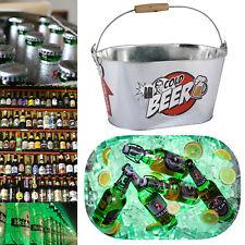 Metal Beer Cooling Bucket Drink Holder Ice Cooler Bottle Ice Bucket Beer Holder