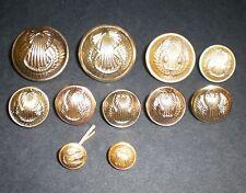 Lot de 11 boutons armée de l'air tous differents 25m/21m/16mm A.M/P.B.T/T.W/Bour