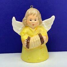 Goebel birthday angel ornament Christmas bell figurine hummel 1979 accordion mcm