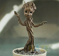 Guardians of the Galaxy Groot Potted Plants PVC Figure Model Toy Three Heads Hot