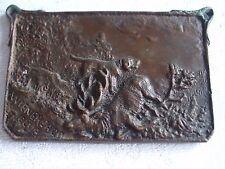 Antique Copper Hunting Plaque 1905 Vienna Trophy Exhipit