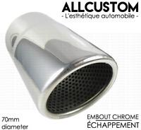 EMBOUT CANULE SORTIE ECHAPPEMENT CHROME TUBE TUYAU pour VOLVO XC60 08-13 R 70mm