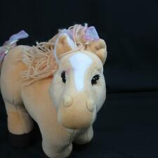 2005 Cabbage Patch Horse Blonde Tan Bows Yarn Hair Stables Plush Stuffed Animal