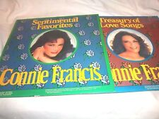 CONNIE FRANCIS-SENTIMENTAL FAVORITES/TREASURY OF LOVE SONGS-SMI  VG+/VG+ 2LP
