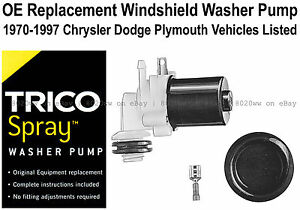 Windshield / Wiper Washer Fluid Pump (a) - Trico Spray 11-507