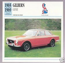 1965-1969 Gilbern Genie British Car Photo Spec Sheet French Card 1966 1967 1968