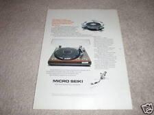 Micro Seiki Turntable Ad, 1977, MA505,DDX 1000,20