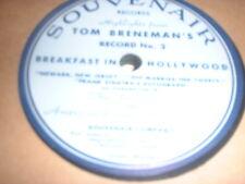 78RPM Souvenair Tom Breneman's Frank Sinatra's Autograph V+