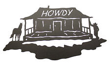 Howdy Welcome Sign - Horse - Cowboy - Cabin