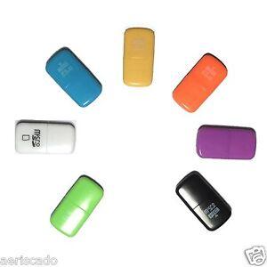 New Capsule Generic MicroSD MicroSDHC USB 2.0 Card Reader Writer Black Blue