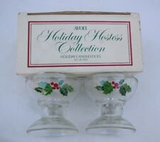 Avon Set of 2 Holiday Candlesticks Holiday Hostess Collection Christmas