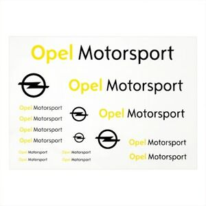 Original OPEL MOTORSPORT Blitz Stickerbogen DIN A4 PVC Aufkleber Fanartikel