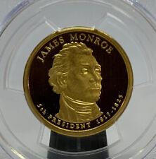 2008 S James Monroe PCGS PR69 DCAM First Strike $1 Presidential Coin Flag Label