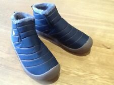 Brand new cosy furlined waterproof ankle boots navy size 39 HALF PRICE