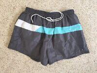 Vintage 80s Jordache Mens Shorty Swim Trunks Lined Baggies Beach Gray USA Made