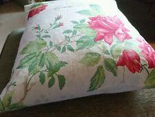 Rosa rossa tessuto floreale Copricuscino, misto lino