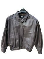 Mad Max Size L Men's Brown Leather Jacket Shell: Genuine Leather