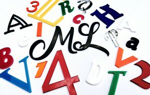 Script Names Letters Words Colour Acrylic Personalised Book Art Font