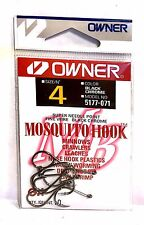 Owner Mosquito Black Chrome Fish Hooks Size 4