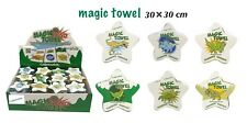 DINOSAURS MAGIC TOWEL FACE CLOTH  TRAVEL CAMPING KIDS FUN COTTON 30 X 30 CMGIFT