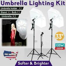 Photography Studio Soft Umbrella Lighting Photo Video Reflector Light Stand Kit*