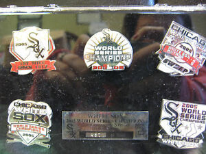 Chicago White Sox 5 Pin Set - 2005 World Series Champs Ltd. Ed. of 1,000