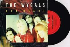 """THE WYGALS - HER HEART (EAT A HORSE) - RARE 7"""" 45 RECORD w PROMO PICT SLV - 1989"""