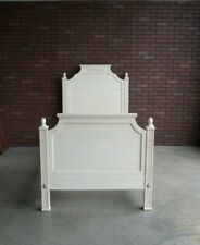 Twin Bed Frame ~ Cottage Bed ~ Swedish Home Carved Panel Twin Bed by Ethan Allen