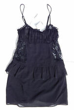 LA PERLA MADE IN ITALY BABYDOLL SET BLACK sz 2(IT) S(US)  NEW$554  AUTHENTIC