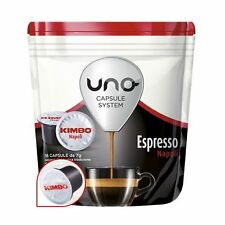 16 PODS UNO CAPSULES SYSTEM KIMBO ESPRESSO NAPOLI ORIGINALS BREAK SHOP