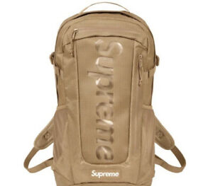 SUPREME TAN BACKPACK SS21 (IN HAND) OS 100% AUTHENTIC/ BRAND NEW..