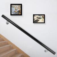 Stair Handrail Stair Rail Aluminum Modern Handrail for Stairs 4ft Length Black