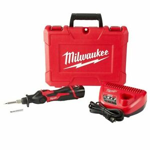 Milwaukee 2488-21 M12 12V Cordless Pivoting Head Soldering Iron Kit