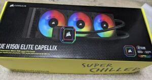 CORSAIR - iCUE H150i ELITE CAPELLIX 360mm CPU Cooler - Black‼️🌟USED✅🌟