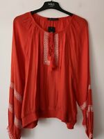 LADIES M&S SIZES 16 OR 20 BRIGHT ORANGE SOFT CRINKLE TOP FREE POST
