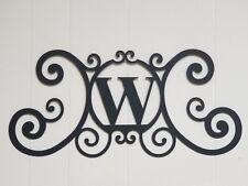Iron Letter W Door Monogram Wall Decoration Plaque Metal Art Initial 2mm thick