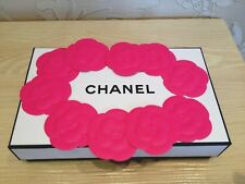 NEW RARE 2018 CHANEL SET of 10 PIECES PINK STICKERS CAMELLIA