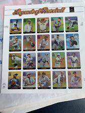 USPS Legend of Baseball Full Sheet 20 - .33