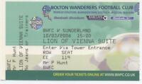 FOOTBALL MATCHDAY TICKET 2006 BOLTON WANDERERS