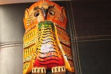 HANDMADE MAYAN OWL MASK (Wise Counsellor) made by Guatemala mayan artisans
