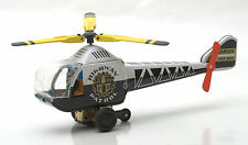 Ichimura Japan Tinplate Friction Drive Highway Patrol Bell Helicopter 1960s