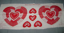 Vintage Cranston VIP Fabric Panel Valentine HEARTS DELIGHT PILLOW AND SACHETS