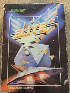 ELITE - Acornsoft for the Acorn Electron - Original vintage space adventure game