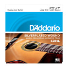 D'Addario EJ84L Gypsy Jazz Guitar Strings, Loop End, Silverplated  Light, 10-44 for sale