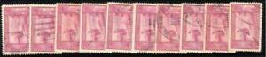 PHILIPPINES 1947 Sc.E12 Special Delivery bulk lot of 10 used @E1327