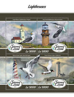 Sierra Leone 2018 MNH Lighthouses White Shoal Point Vicente Light 4v M/S Stamps