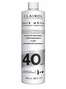 CLAIROL PURE WHITE 40 CREME DEVELOPER MAXIMUM LIFT 16 OZ