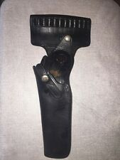 Vintage DON HUME Black Leather Gun Holster w/Cartridge Bullet Holder Pre-1980
