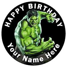 "Hulk Smash Partido - 7.5 ""Personalizadas Comestibles Glaseado Cake Topper"