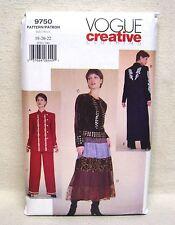 Vogue Jacket Skirt & Pants Pattern #9750 Size 18-20-22 NEW UNCUT Average